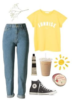 Summer loox by brennaluedtke on Polyvore featuring polyvore, fashion, style, MANGO, Converse, Aesop and clothing