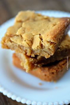 Caramel salted blondies.