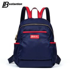 36.29$  Watch now - http://ai76v.worlditems.win/all/product.php?id=32730460994 - Bostanten Girls Backpacks Nylon Fashion Black/Purple/Blue Front Pocekts Zipper School Bags For Teenagers Waterproof Backpack