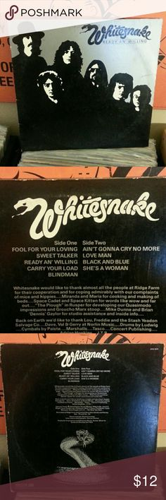 Whitesnake vinyl record lp Ready an' willing   Cover vg record vg vintage  Other