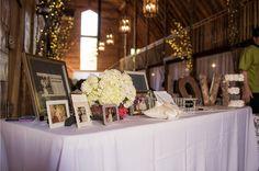 #kfb_events #rentals #prattplaceweddings #goldsequin #navyandgold #barnwedding | wedding table | hydrangea |  metal LOVE lettering | wedding photographs