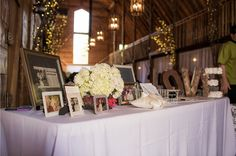 #kfb_events #rentals #prattplaceweddings #goldsequin #navyandgold #barnwedding | wedding table | hydrangea |  metal LOVE lettering | wedding photographs