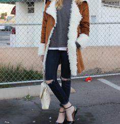 Lauren from @A Hippie's Daughter in the Joplin Shearling Faux Suede Coat (http://www.nastygal.com/clothes-jackets-coats/joplin-shearling-faux-suede-coat)