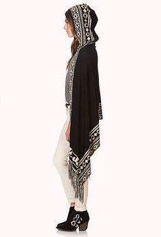 Winter Nights Fringed Poncho | FOREVER 21 - 2000126417