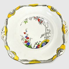 Hey, I found this really awesome Etsy listing at https://www.etsy.com/listing/254432165/wetley-china-cake-plate-art-deco-era