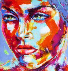 Peintre portraitiste contemporain Berto Portraits, Les Oeuvres, Contemporary Art, Collages, Painting, Inspiration, How To Paint, Contemporary, Canvas