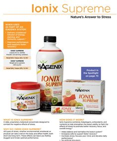 Need more energy, want to sleep better and more amazing benefits...then you need Ionix!!! www.jamestrudell.isagenix.com