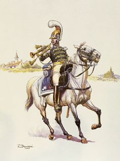 French Carabinier, Trumpeter, 1st Regiment, 1813-1815