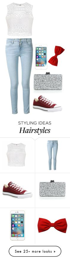 """""""Bez naslova #178"""" by meripopovic on Polyvore featuring Ally Fashion, Frame Denim, Converse and Edie Parker"""