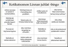 Suomi-juttuja #itsenäisyyspäivä #linnanjuhlat #bingo #tulostettava #bingoruudukko #palveluasuminen #virike #viriketoiminta #kulttuurinen #vanhustyö Videos Funny, Bingo, Independence Day, Finland, Happy Holidays, Inspiration, Parties, Christmas, Historia