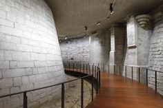 """Musée du Louvre's Verified account:   @MuseeLouvre:  Apr 24, 2018: """"The moats of the Medieval Louvre are the remains of the first Louvre, a fortified castle built by Philippe-Auguste in 1190. The Louvre, because of its strategic position, was then a fortress to complete the defensive system of the city of Paris! #CityMW #MuseumWeek"""" https://twitter.com/MuseeLouvre/status/988769545325334529"""