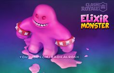 Clash Royale--Elixir Monster--ArtWork
