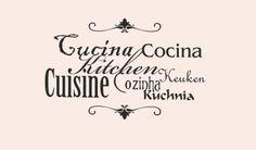 Vinilo cocina idiomas