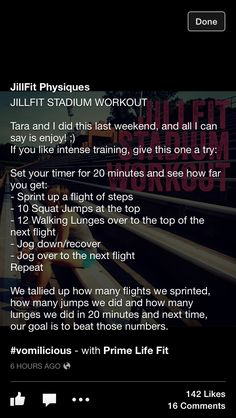 Stadium Workout                                                                                                                                                     More