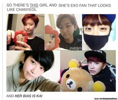 THIS GIRL IS SECRETLY CHANYEOL,i swear!!! | allkpop Meme Center she kind of looks like Victoria to me