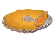 Mustard Thaal Cover With Gota Boota In The Middle  #Thaalcover #Decoration #Festival #Ekatrra #Accessories #Clutch #Fancy #Partywear #Womenwear #Womencollection #Follow #Stepintostyle #Stepintoawesome #Trendy #Traditional #Love #Gift #Purse #Handbags #Designer #Indiandesigner Shop Now: http://bit.ly/1Til1Sq