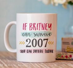 Funny Coffee Mug Britney Quote Mug Ceramic by OhHelloSugarGifts