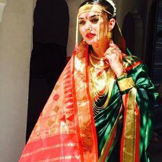 Amy jackson in Indian traditional pattu saree costume