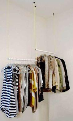 Idee salvaspazio fai da te per la cabina armadio (Foto) | PourFemme