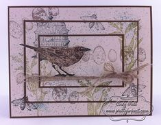 Nature Walk Triple-Time Stamping by Cindy Hall - Cards and Paper Crafts at Splitcoaststampers