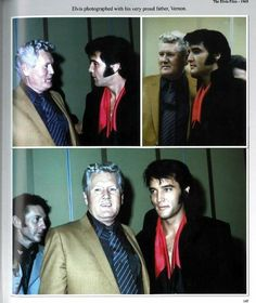 Elvis with his Father, Vernon ~ 1969 Las Vegas Press Conference