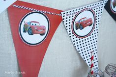 Banderines Kit imprimible Cars Merbo Events by Merbo Events, via Flickr