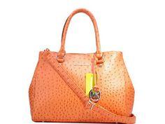 Michael Kors Orange Lychee leather bag