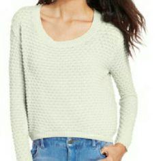 NEW--AMERICA RAG SWEATER White long sleeve sweater American Rag Sweaters Crew & Scoop Necks