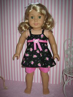 Shorts Outfit made to fit American Girl Doll by MenaBella on Etsy