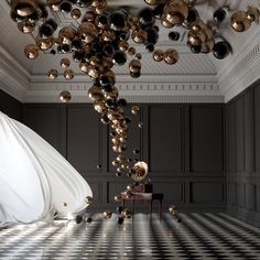 Graduation Party Decor Discover Balloon Concerto Gramophone - Federico Picci - The Cool Hunter Balloon Concerto Gramophone - Federico Picci - The Cool Hunter - The Cool Hunter Balloon Arch, Balloon Garland, Balloon Decorations, Birthday Decorations, Ben E Holly, Deco Ballon, Photowall Ideas, Silvester Party, Gold Balloons
