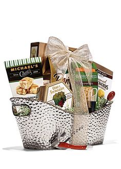 Your friends will surely invite you back when you show up with a gourmet hostess gift like this fabulous basket!