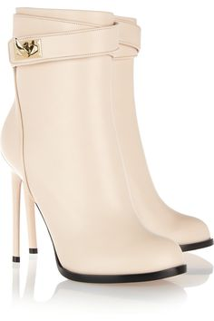 Shark! Don't run, it's just the #shoeoftheday. Givenchy|Shark Lock leather ankle boots|NET-A-PORTER.COM