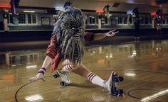 Mako Miyamoto's everyday Wookiees:  Rollerskating Wookiee  Because everyone should go rollerskating in a wookie costume.