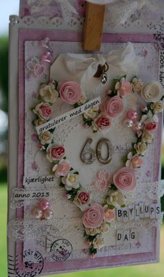 60 års  bryllups kort / weddingcard