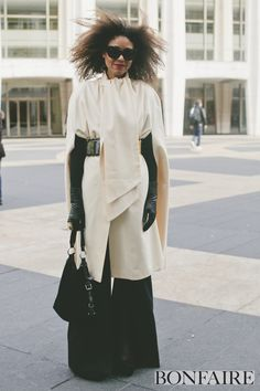 A perfect layered look to fight the storm #nyfw #bonfaire