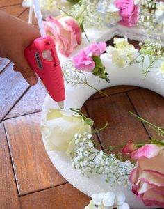 DIY Floating Pool Flower Letters