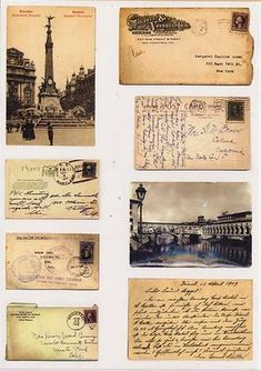 Our miniatures - Printables: Postcards and envelopes