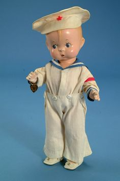 Effanbee Skippy Sailor Doll ~ Repinned via Shelley Grubb