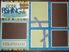 Premade Gone Fishing Scrapbook Pages for boy girl family. $14.99, via Etsy.
