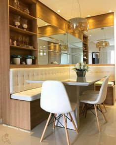 Apartment Interior, Kitchen Interior, Kitchen Design, Dining Room Bench Seating, Dining Table Design, Small Dining Area, Living Room Tv Unit Designs, Bungalow Interiors, Ikea Home