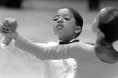 10 year old Peter Jantjies puts his partner through her paces at the annual Ballroom Dancing Competition held at the Good Hope Centre in Cape Town