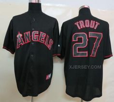 http://www.xjersey.com/angels-27-mike-trout-black-fashion-jerseys.html ANGELS 27 MIKE TROUT BLACK FASHION JERSEYS Only $34.00 , Free Shipping!