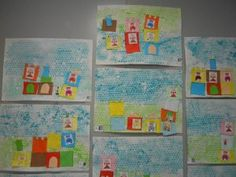 Le tout petit roi : Le chateau en collage et peinture – MC en maternelle