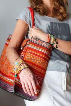 Turquoise Wrap Bracelet, Friendship Bracelet with Tassels, Bohemian Jewelry, Beaded Bracelet, Best Friend Gift