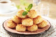 Paleo Coconut Macaroons, Coconut Cookies, Coconut Recipes, Fudge Recipes, Cookie Recipes, Macaroon Recipes, Shredded Coconut, Pumpkin, Baking