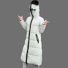 53.00$  Watch here - http://alie7z.worldwells.pw/go.php?t=32720565433 - Glasses Hat Design Winter Jacket and Coat 2016 Woman Long Slim Cotton-padded Coat Slim Thicken Wadded Anti-snow Parka SS922