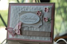 Kerry Timms Stampin' Up! Demonstrator Butterfly Punch Four Frames Wetlands Stamps Party in your home handmade cards