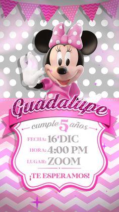 Minnie Mouse Rosa, Minnie Birthday, Daisy, Ticket Invitation, Sun, Minnie Mouse Birthday Invitations, Minnie Mouse Invitation, Margarita Flower, Daisies