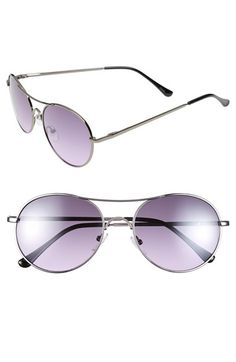 Icon Eyewear 53mm Metal Aviator Sunglasses