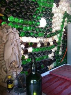 Walls Made From Glass Bottles At The Famous Charlieu0027s Restaurant (in Tulum)  LOVE IT